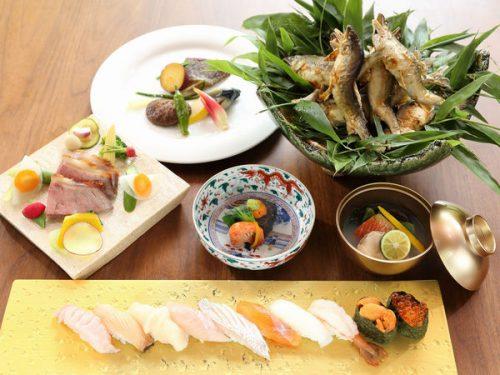 寿司会席プランの一例